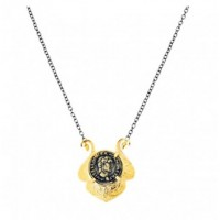 Coin necklace with oxid chain